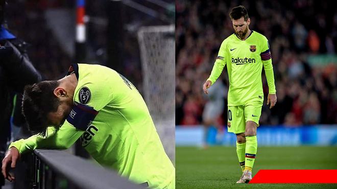Xe buýt chở cả đội Barca ra sân bay ngay khi trận đấu kết thúc, bỏ rơi Messi 1 mình ở lại Anfield vì lý do khó đỡ