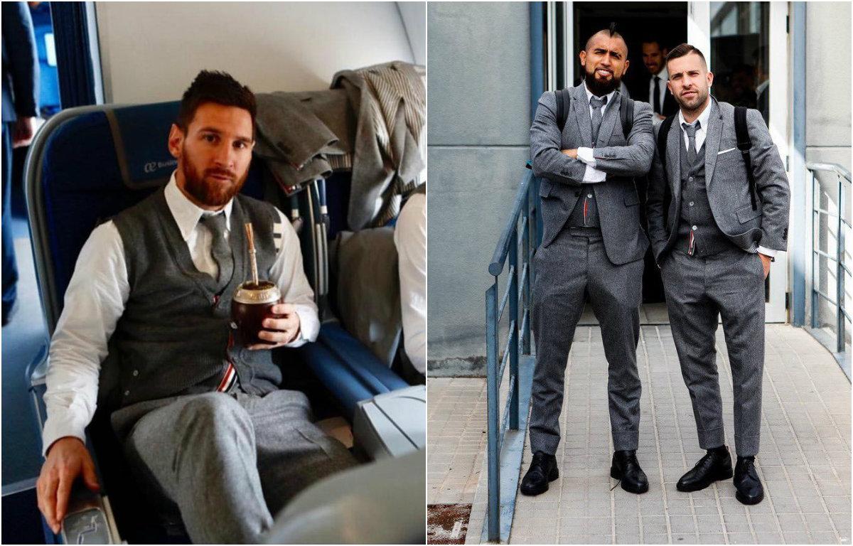 CHÙM ẢNH: Messi bảnh bao như ông hoàng dẫn đầu dàn sao Barca đổ bộ xuống Liverpool lấy vé chung kết C1