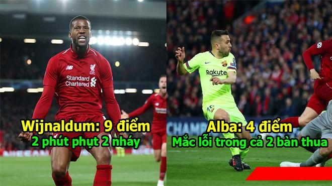 Chấm điểm Liverpool 4-0 Barca: Kẻ đóng thế nhận điểm cao không tưởng, Barca quá tệ trừ Messi