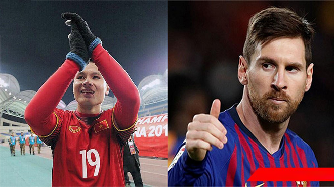 Quang Hải nhận vinh dự chưa từng có trong lịch sử, sánh ngang với Ronaldo và Messi