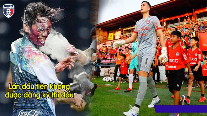 Văn Lâm hưởng niềm vui trọn vẹn với chiến thắng đậm đà trong ngày Xuân Trường 'mất tích' ở Thái Lan