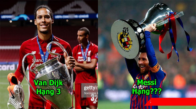 5 ứng viên sáng giá nhất cho danh hiệu QBV 2019: Chức vô địch của Van Dijk chẳng ảnh hưởng đến vị trí của Messi