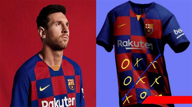 Vừa ra mắt áo đấu chính thức mùa tới, Barcelona đã bị chê tơi tả, nhìn Messi mặc lên mà thấy tội