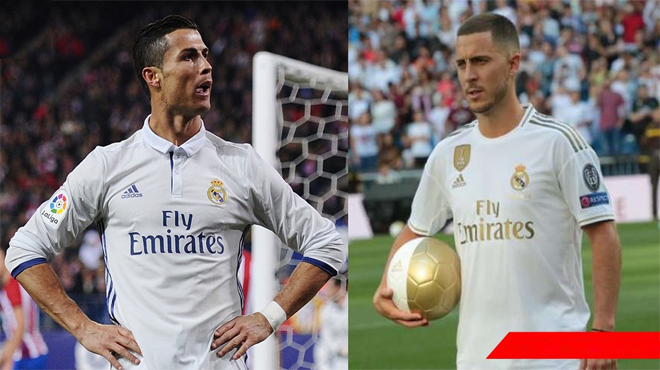 Huyền thoại Real Madrid thẳng thắn nhận định: 'Hazard không thể thay thế được Ronaldo'